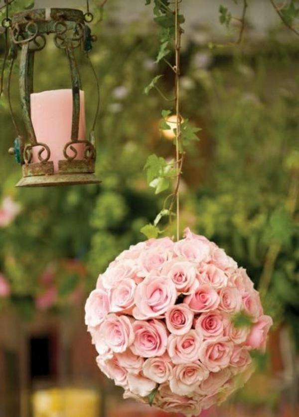 Décoration-florale-originale- mariée-cérémonie -bouquet-de-maariee-ronde