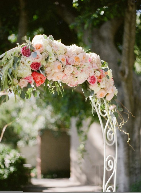 Décoration-florale-originale- mariée-cérémonie -champetre
