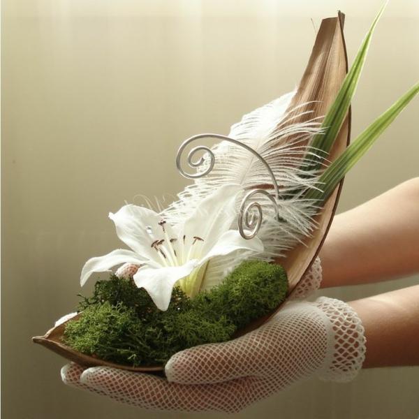 Décoration-florale-originale- mariée-cérémonie -idée