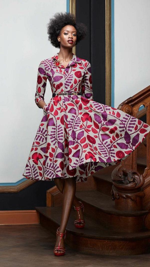 Fringue-moderne-au-style-rétro-robe-trapèze-jolie