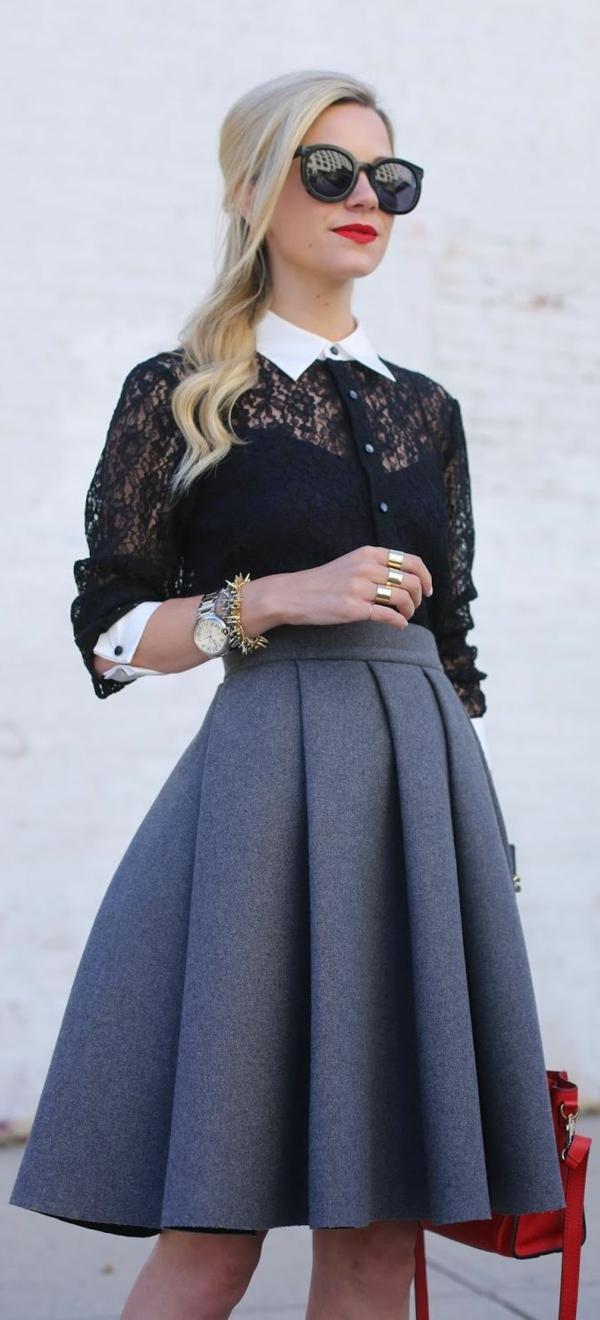 Fringues-à-la-mode-inspirée-par-le-swing-jupe-taille-haute
