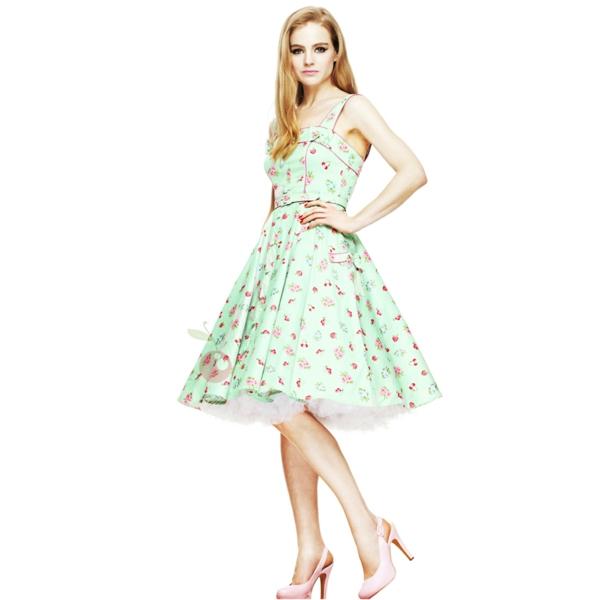 Fringues-à-la-mode-inspirée-par-le-swing-robe-rockabilly