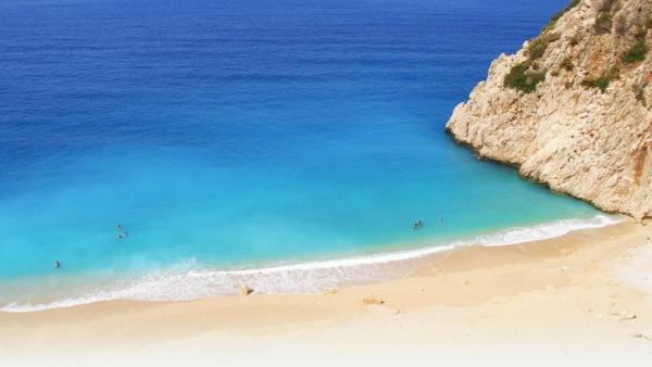 Haute-temperature-Antalya-Turquie-beau-temps-jolie-plage-grande
