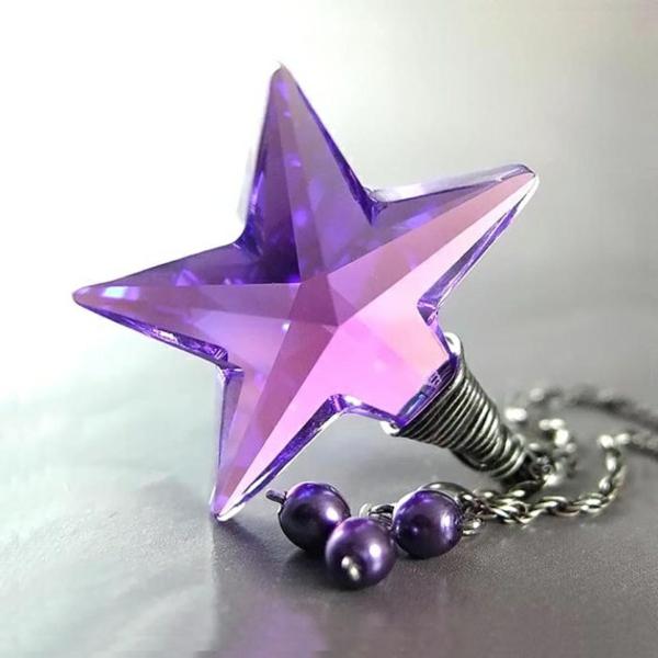 Idée-cadeau-original-Swarovski-collier-étoile