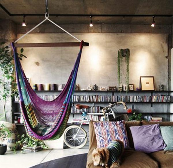 Idée-créative-décoration-avec-la-balançoires-hamac