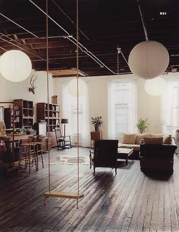 Idée-créative-décoration-avec-la-balançoires-salon-vast