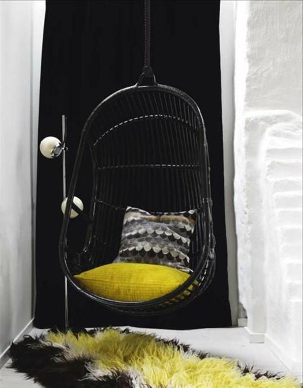 Idée-créative-décoration-avec-la-balançoire-vert-et-noir