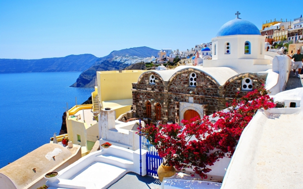 santorin paysage - Photo