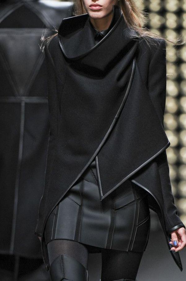 Jupe-cuir-vetements-jolies-style-le-look-total-noir