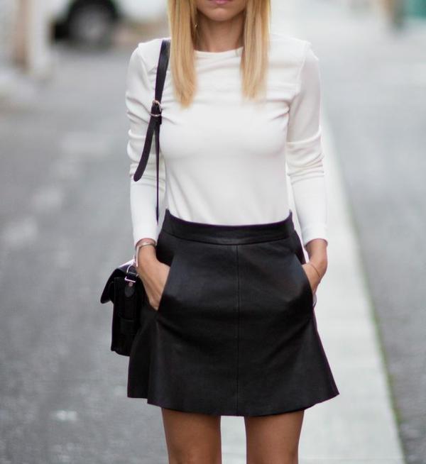 la jupe simili cuir une tendance top pour le printemps et l 39 t. Black Bedroom Furniture Sets. Home Design Ideas