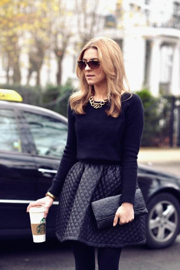 Jupe-en-simili-cuir-s-habiller-bien-idée-cute