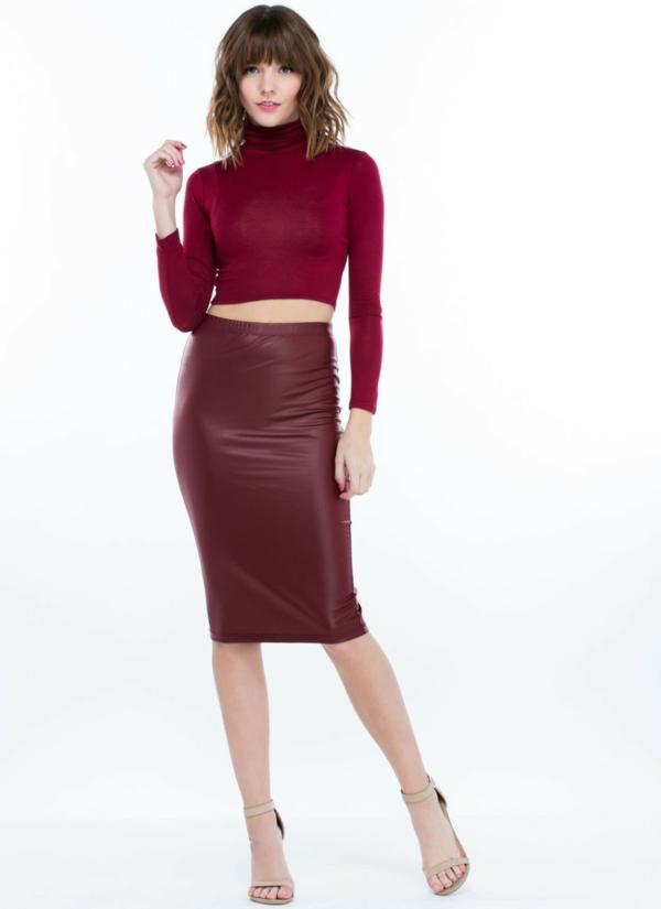 Jupe-simili-cuir-rouge-tenue-de-jour-2015-