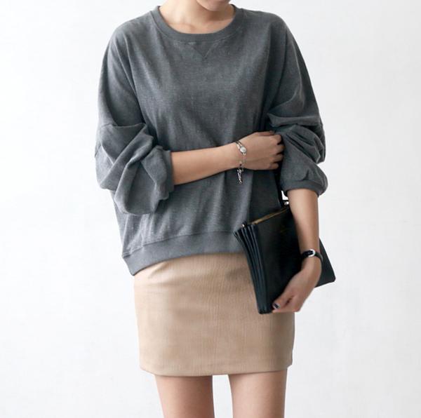 Jupe-simili-cuir-tenue-de-jour-2015-jupe-mini