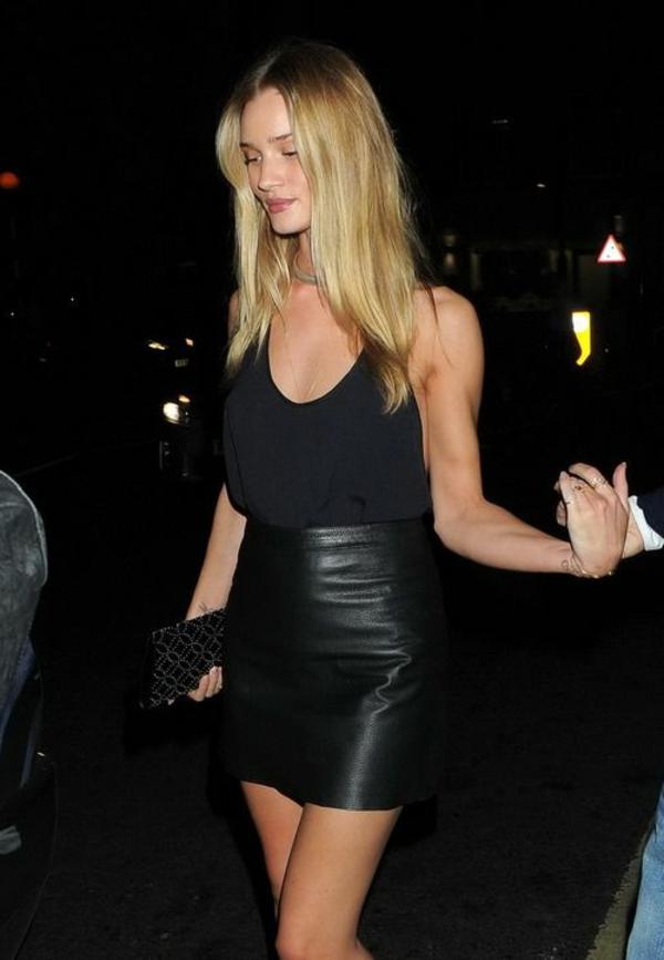 Jupe-simili-cuir-tenue-de-jour-2015-modele