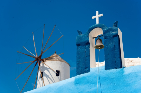 Colors of Oia. Santorini island (Thira), Greece.