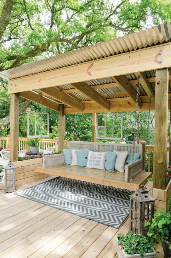 Balan oire pour le jardin ou l terasse 65 id es for Balancoire de jardin en bois