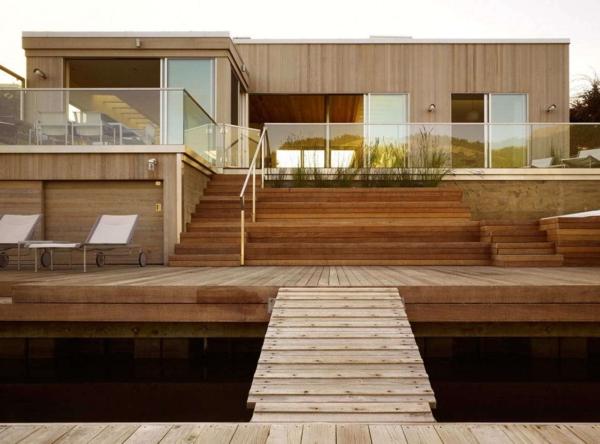 Maison-en-bois-Etats-Unis-moderne-au-niveau-de-sol