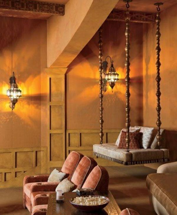 63 id es avec une balan oire pour votre salon - Salon style oriental chic ...