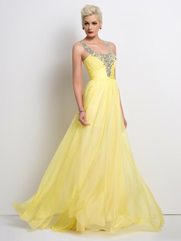 Robe-de-soirée-longue-bal-de-promo-jaune