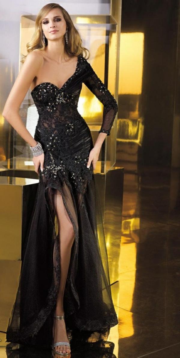 Robe-habillée-tenue-de-la-soirée-spécial-robe-longue-noir