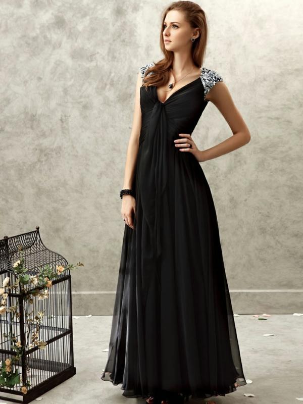 Robe-pour-le-bal-de-promo-elegante-noir