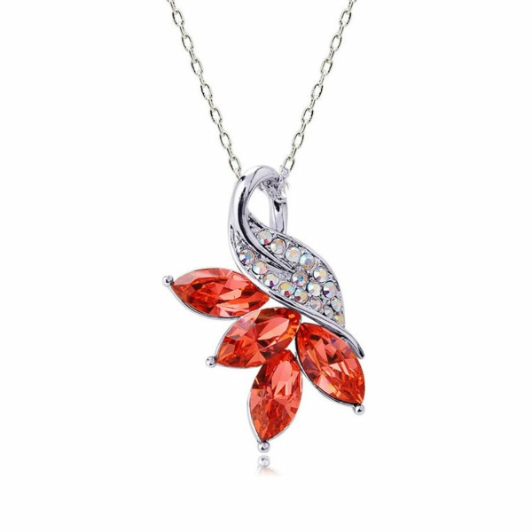 Swarovski-Crystal-fleur-rouge-jolie