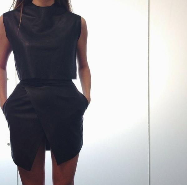 Tendances-tenue-complete-jupe-en-cuir-jupe-asymetrique