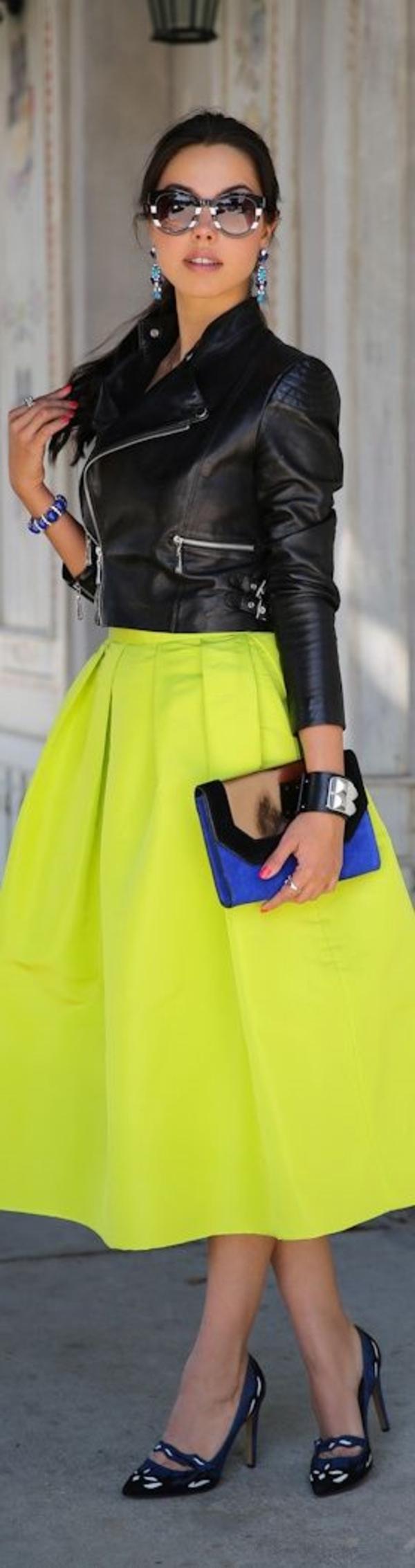 Tenue-de-jour-rock-s'habiller-bien-jupe-trapèze