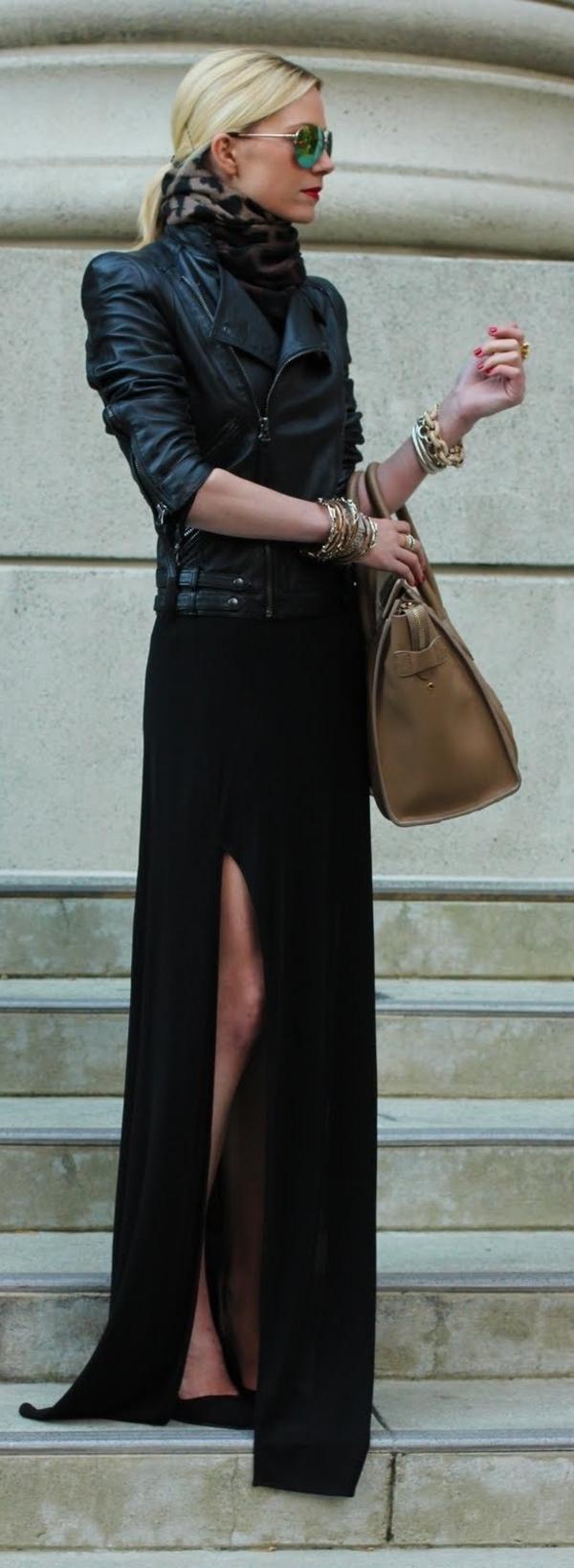 Tenue-de-jour-rock-s'habiller-bien-robe-longue