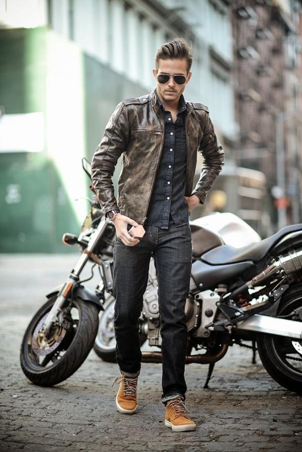 Porter une veste en cuir homme