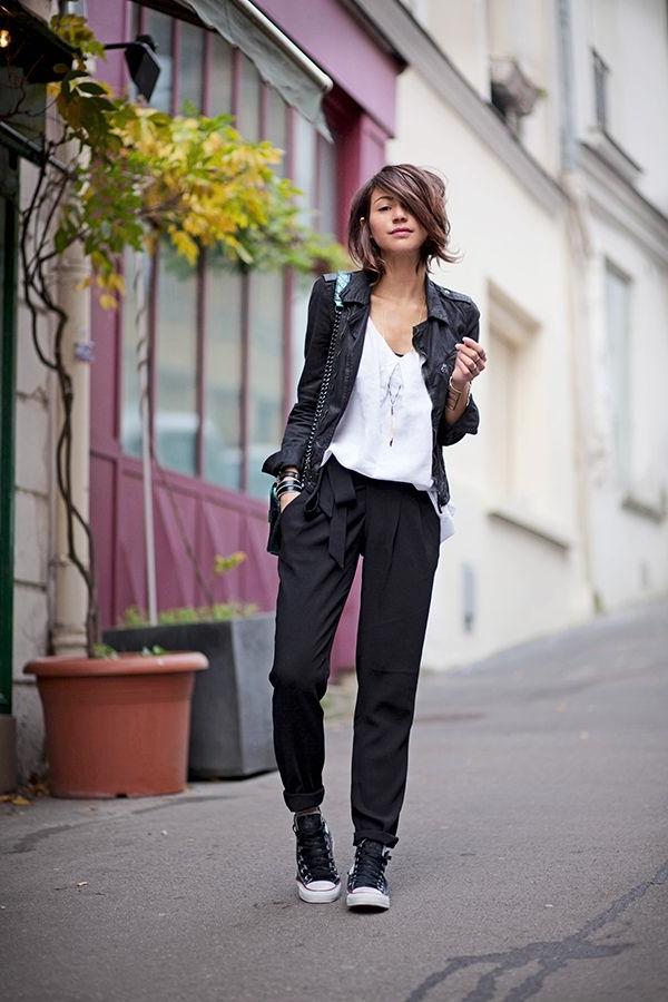 Veste-cuir-vêtement-stylé-blanc-et-noir-look