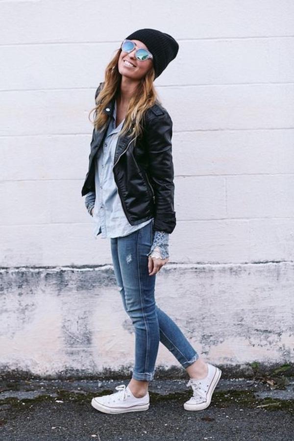 Veste-en-cuir-femme-chic-chemise