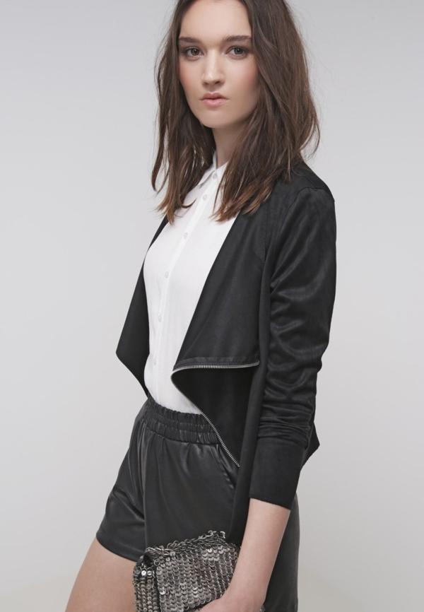 Veste-en-cuir-femme-chic-pantalons-courts-cuire