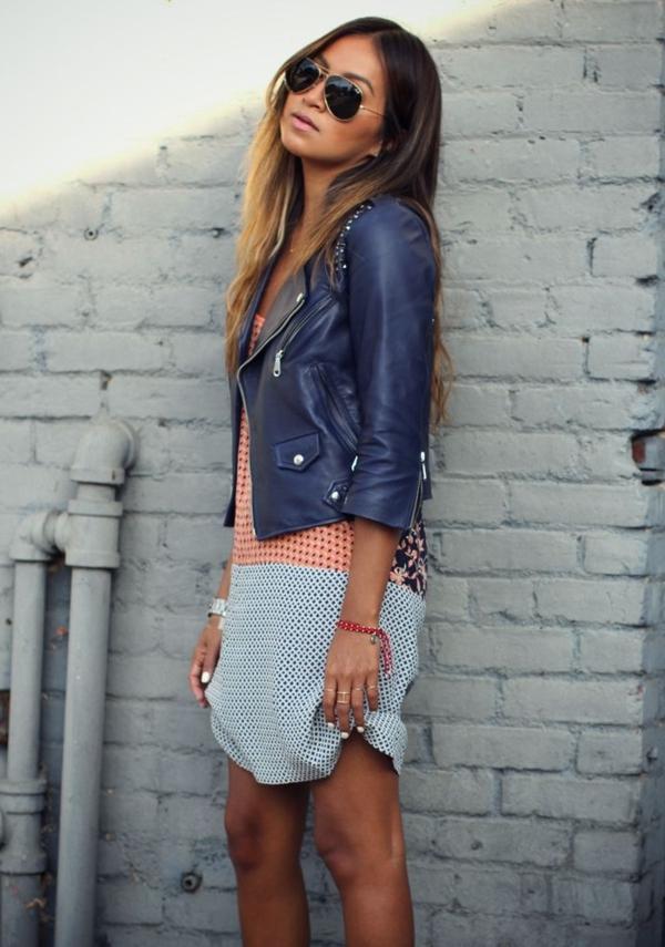 Veste-en-cuir-femme-chic-veste-bleue