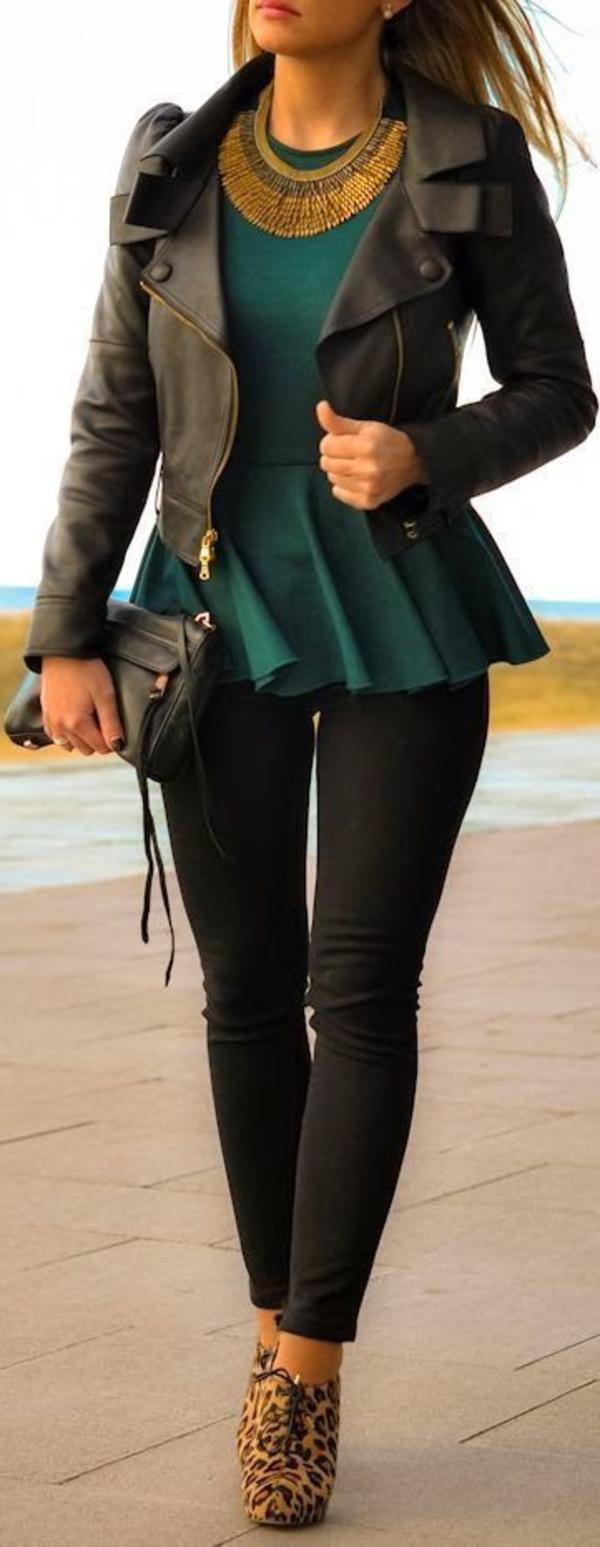 Veste-en-cuir-femme-chique