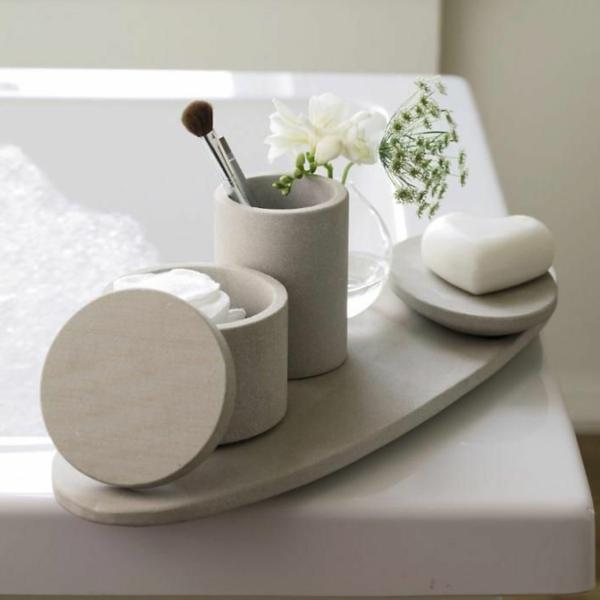 accessoires-de-salle-de-bain-élégantes-accessoires-en-béton