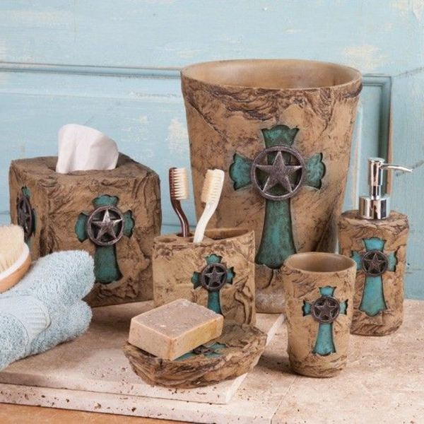 Salle de bain turquoise et marron d co salle de bain for Salle de bain turquoise et noir