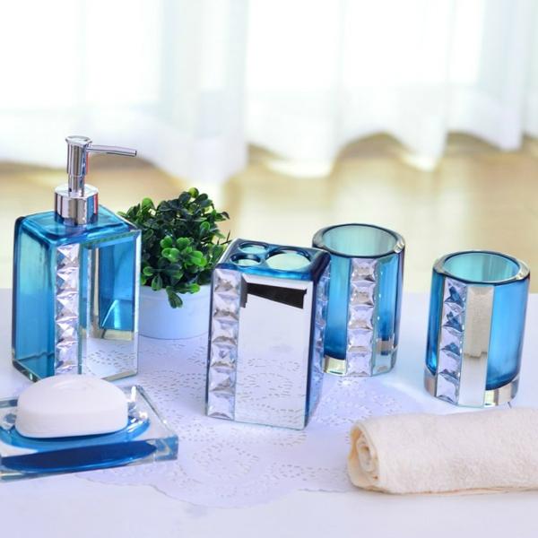 accessoires-de-salle-de-bain-flocons-incrustés