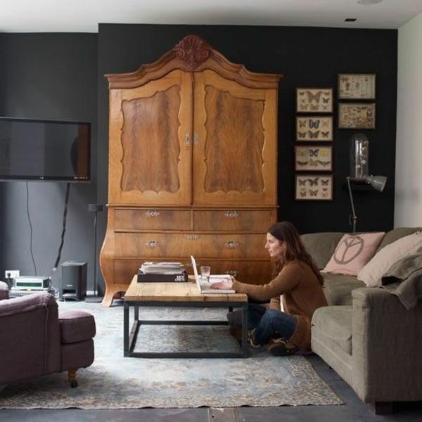 armoire-ancienne-bois-salon