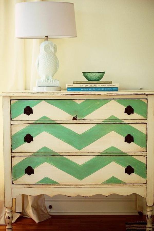 armoire-colorée-verte-beige