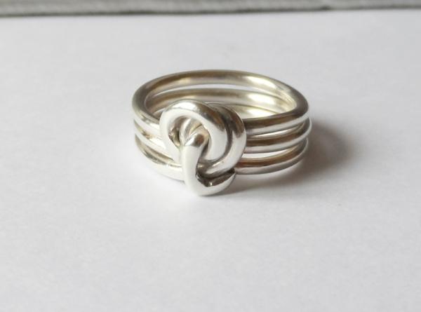 bague-knot-argent-triple-anneaux