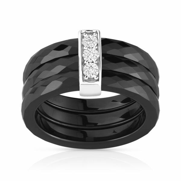 bague-noir-argent-925-ceramique-diamant
