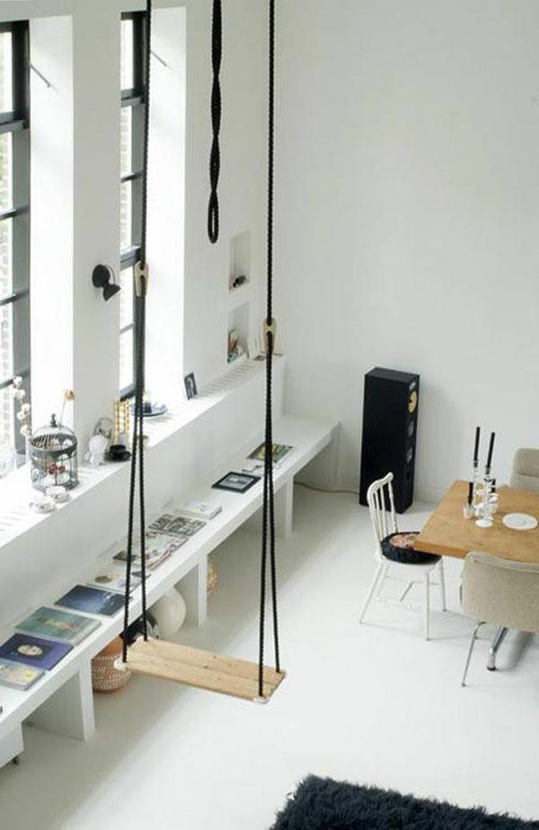 balançoire-salon-blanc-salle-de-sejour-stylé
