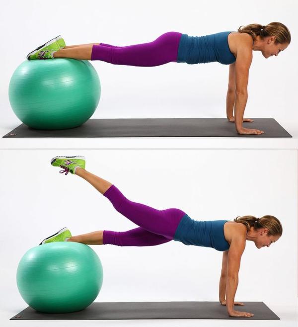 ballon-de-gymnastique-la-posture-planche