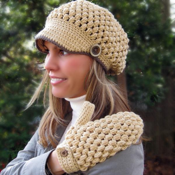 bonnet-en-crochet-beige-accessoires-superbes-pour-l'hiver