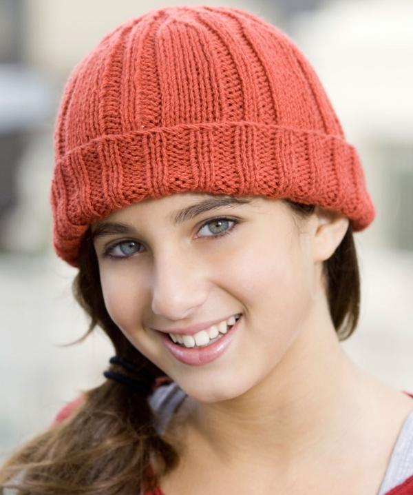 bonnet-en-crochet-bonnet-tricoté-orange