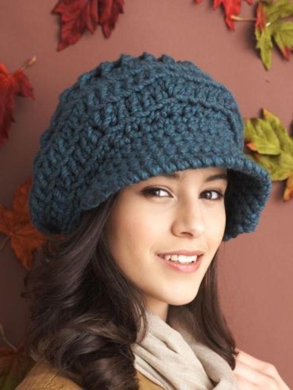 bonnet-en-crochet-casquette-avec-visière