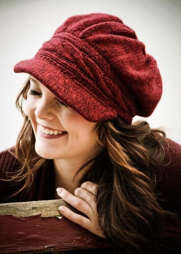 bonnet-en-crochet-casquette-tricotée
