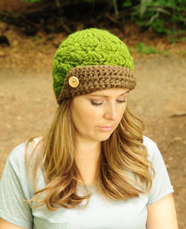 bonnet-en-crochet-joli-bonnet-vert