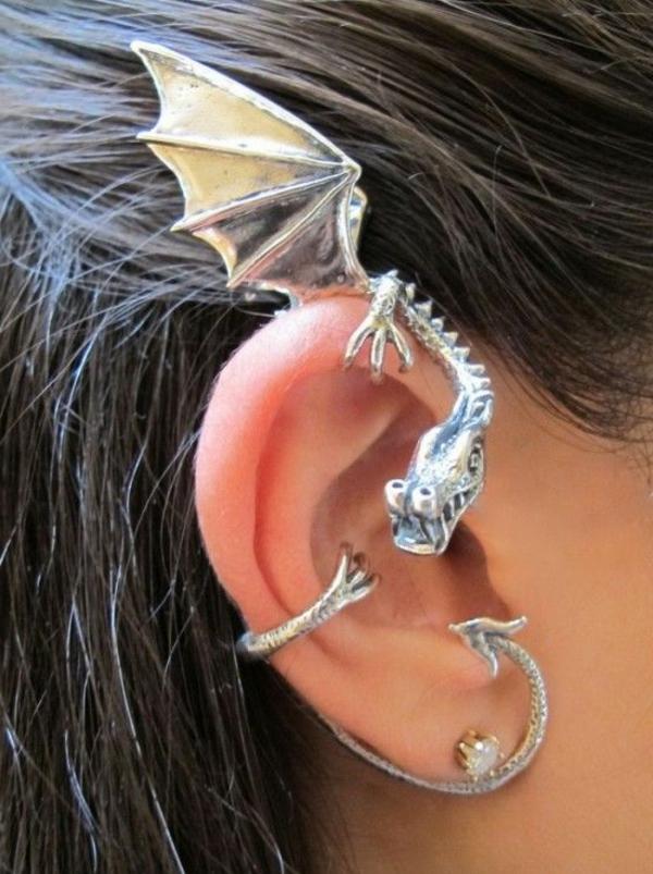 boucles-d'oreilles-originales-idée-creative-dracon